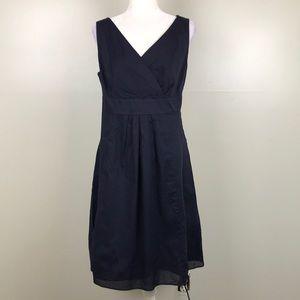 LAND'S END Navy Blue Crossbody Sleeveless Dress